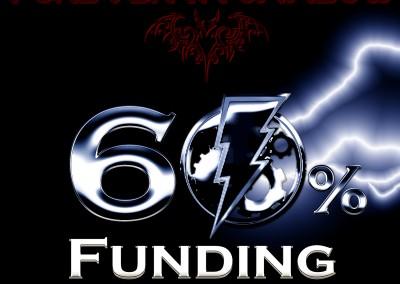 60 percent funding milestone
